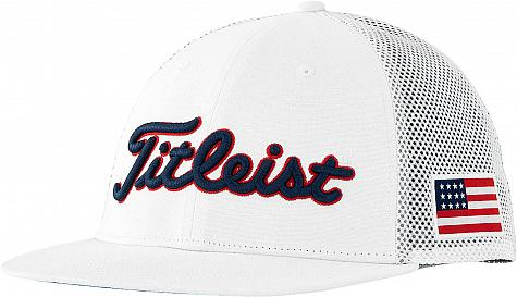 Titleist Tour Flat Bill Mesh Snapback Adjustable Golf Hats - Limited Edition USA - ON SALE