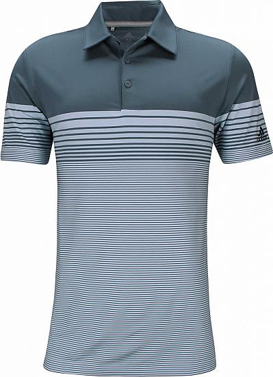 Adidas Ultimate Gradient Block Stripe Golf Shirts - ON SALE