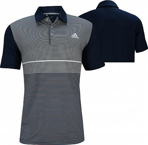 Adidas Ultimate Colorblock Golf Shirts - Collegiate Navy