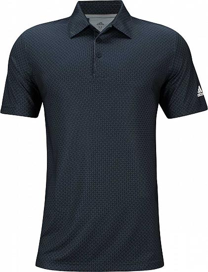 Adidas Ultimate Dot Print Golf Shirts - Collegiate Navy