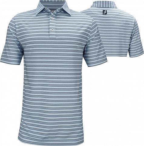 FootJoy ProDry Lisle Pinstripe Golf Shirts - Athletic Fit - Montauk Collection - FJ Tour Logo Available