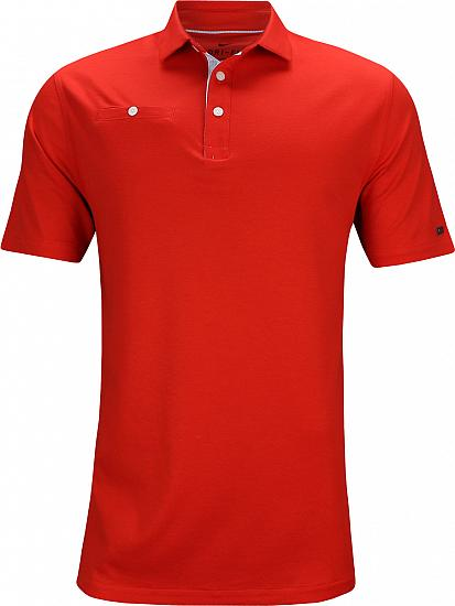 Nike Dri-FIT Player Golf Shirts - Habanero Red - Rory McIlroy PGA Championship Thursday