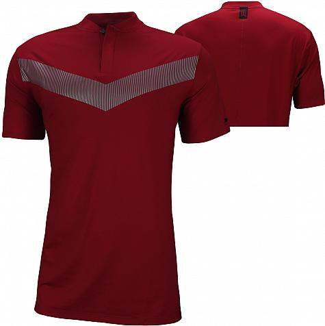 Nike Dri-FIT Tiger Woods Vapor Blade Golf Shirts - Gym Red