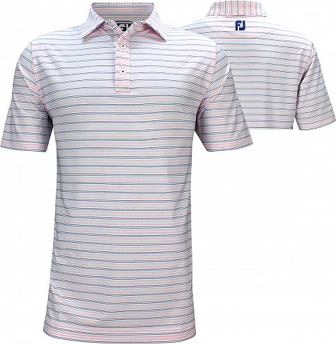 FootJoy ProDry Lisle Pinstripe Golf Shirts - Athletic Fit - Truro Collection - FJ Tour Logo Available