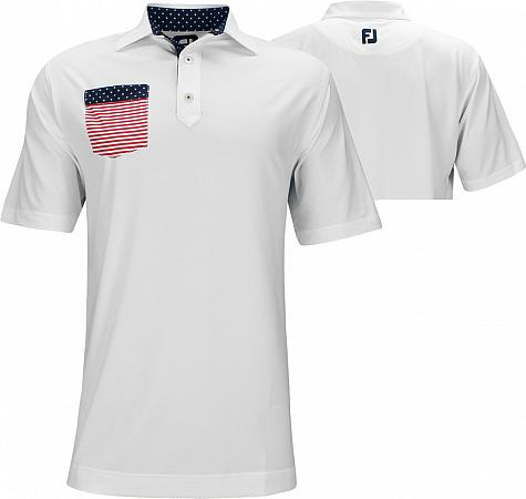 FootJoy ProDry Solid Lisle Flag Pocket Golf Shirts - FJ Tour Logo Available - Limited Edition Stars & Stripes Collection