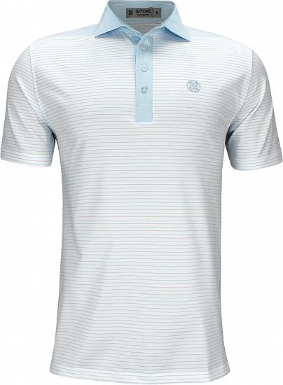 G/Fore Narrow Stripe Golf Shirts - Capri Blue