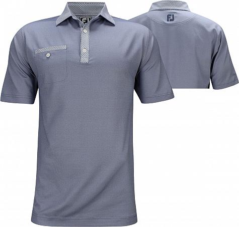 FootJoy ProDry Birdseye Jacquard Circle Print Golf Shirts - Athletic Fit - Truro Collection - FJ Tour Logo Available