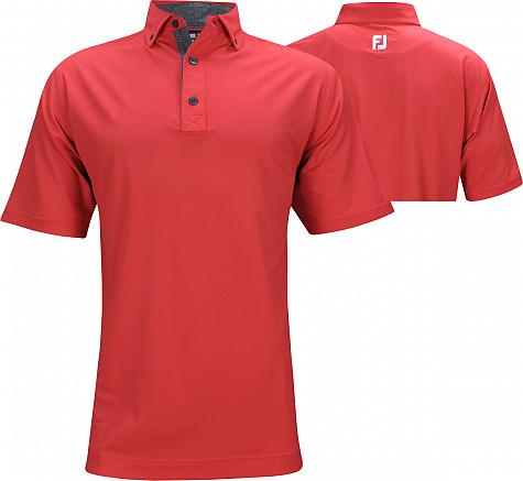 FootJoy ProDry Baby Pique Solid with Dot Print Golf Shirts - Lake Geneva Collection - FJ Tour Logo Available