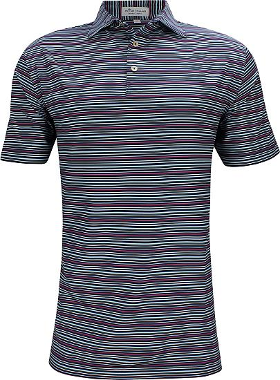 Peter Millar Fox Stripe Stretch Jersey Golf Shirts