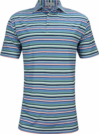 Peter Millar Riverside Stripe Stretch Mesh Golf Shirts