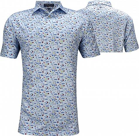 Peter Millar Sonny Printed Multi Stretch Jersey Golf Shirts - Tour Fit