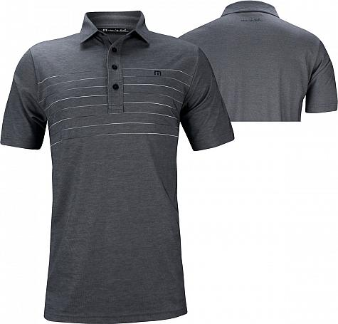 TravisMathew Good Good Golf Shirts - Heather Mood Indigo - ON SALE