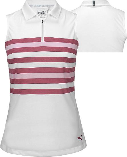 Puma Women's DryCELL Road Map Sleeveless Golf Shirts - ON SALE
