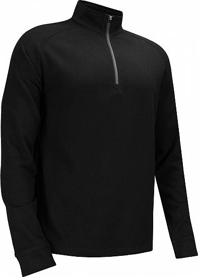 Dunning Natural Hand Quarter-Zip Golf Pullovers - Black