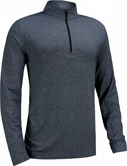 Dunning Embo Quarter-Zip Golf Pullovers - Iron Heather