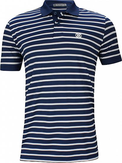 G/Fore Perforated Wide Stripe Golf Shirts