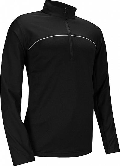 Adidas Go-To Adapt Quarter-Zip Golf Pullovers - Black