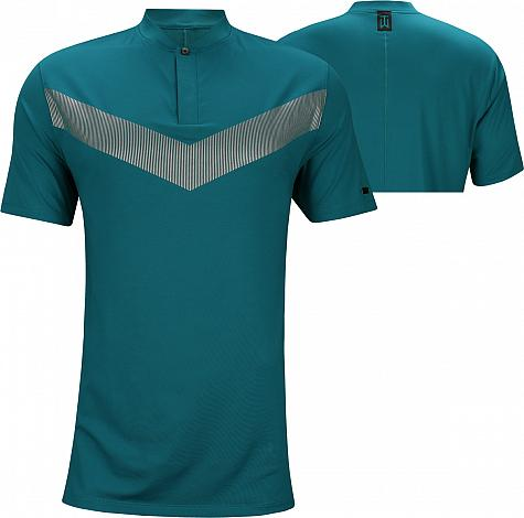 Nike Dri-FIT Tiger Woods Vapor Blade Golf Shirts - Green Abyss