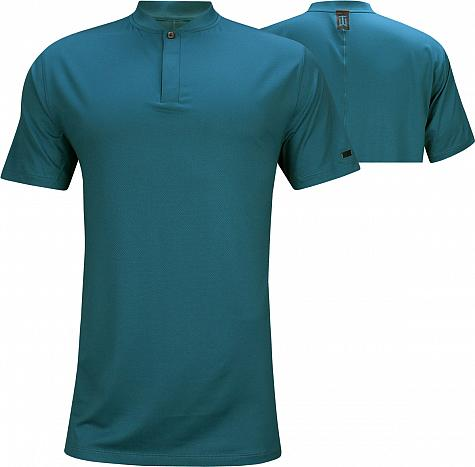 Nike Dri-FIT Tiger Woods Blade Golf Shirts - Green Abyss