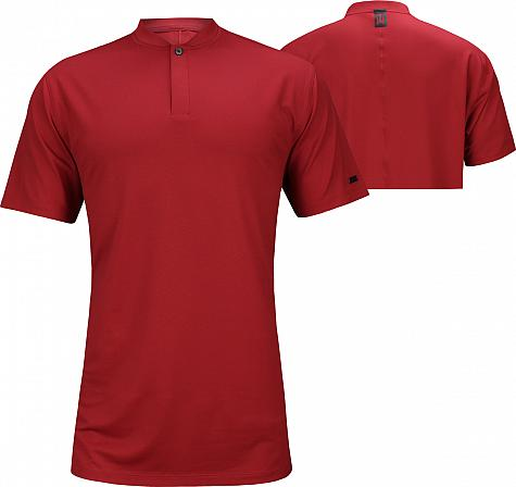Nike Dri-FIT Tiger Woods Blade Golf Shirts - Gym Red