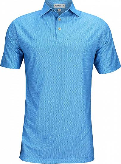 Peter Millar Jamm Printed Geo Stretch Mesh Golf Shirts
