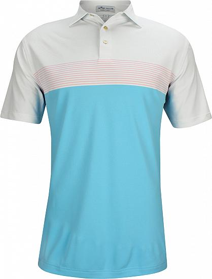 Peter Millar Quote Engineered Stripe Stretch Mesh Golf Shirts