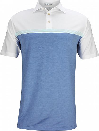 Peter Millar Mial Engineered Stripe Stretch Jersey Golf Shirts