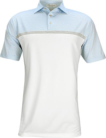 Peter Millar Aycock Engineered Stripe Stretch Jersey Golf Shirts