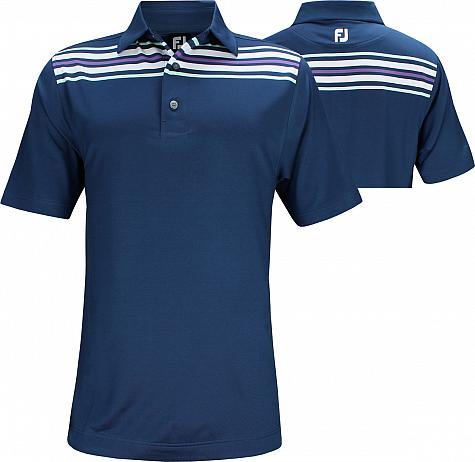 FootJoy ProDry Lisle Chest Stripe Golf Shirts - FJ Tour Logo Available