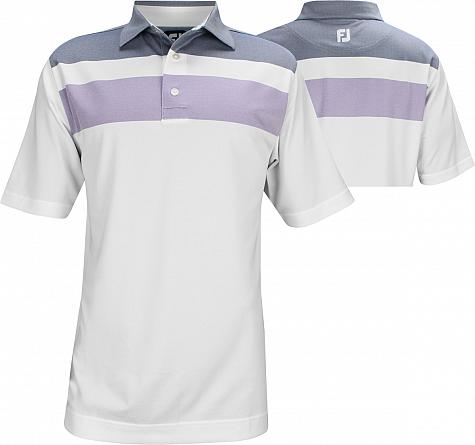 FootJoy ProDry Double Block Birdseye Pique Golf Shirts - FJ Tour Logo Available