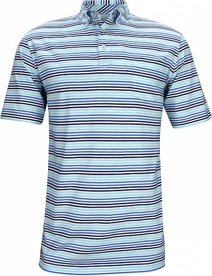 Peter Millar Seaside High Tide Multi Stripe Golf Shirts
