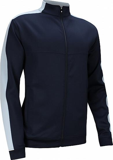 FootJoy Sleeve Stripe Jersey Knit Track Full-Zip Golf Jackets - Palm City Collection - FJ Tour Logo Available