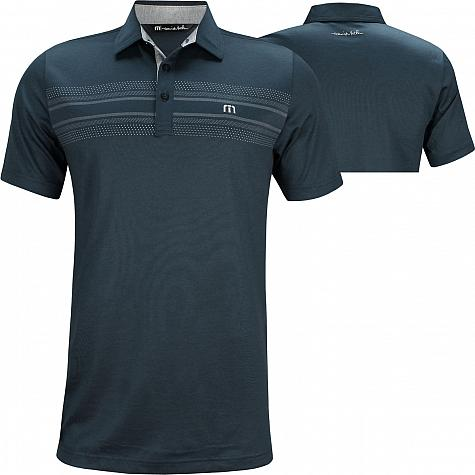 TravisMathew Crow Golf Shirts - Blue Nights - ON SALE