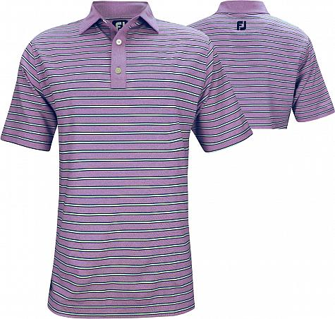FootJoy ProDry Heather Lisle Stripe Golf Shirts - FJ Tour Logo Available