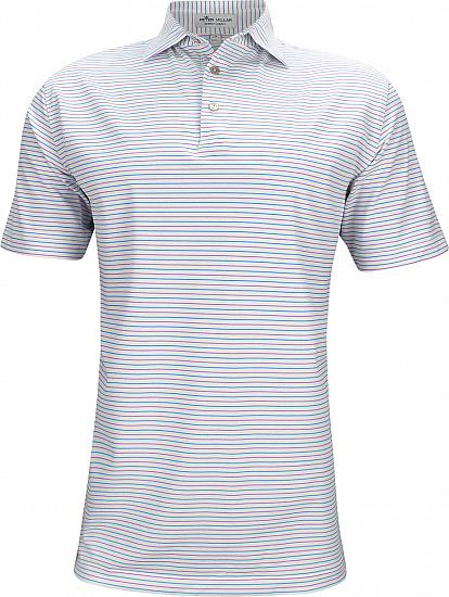 Peter Millar Peace Stripe Stretch Mesh Golf Shirts