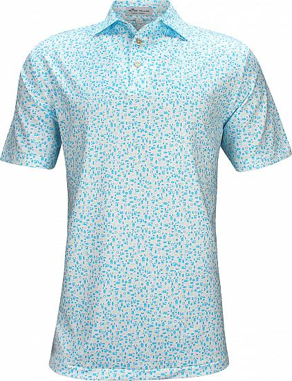 Peter Millar Morrison Printed Mojito Stretch Jersey Golf Shirts
