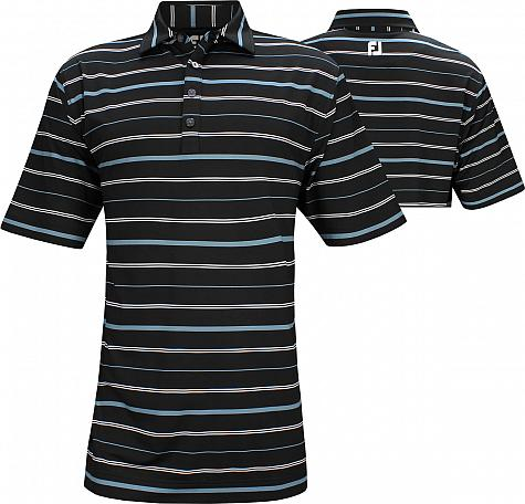 FootJoy ProDry Lisle Open Stripe Golf Shirts - FJ Tour Logo Available
