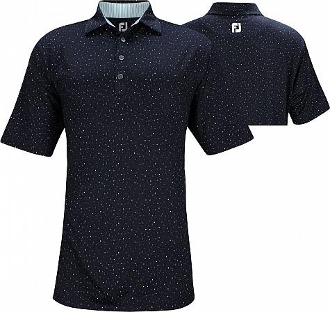 FootJoy ProDry Lisle Confetti Print Golf Shirts - FJ Tour Logo Available