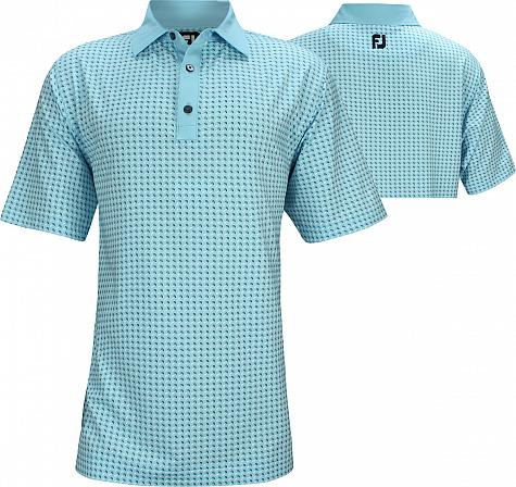 FootJoy ProDry Lisle Mini Paisley Golf Shirts - FJ Tour Logo Available