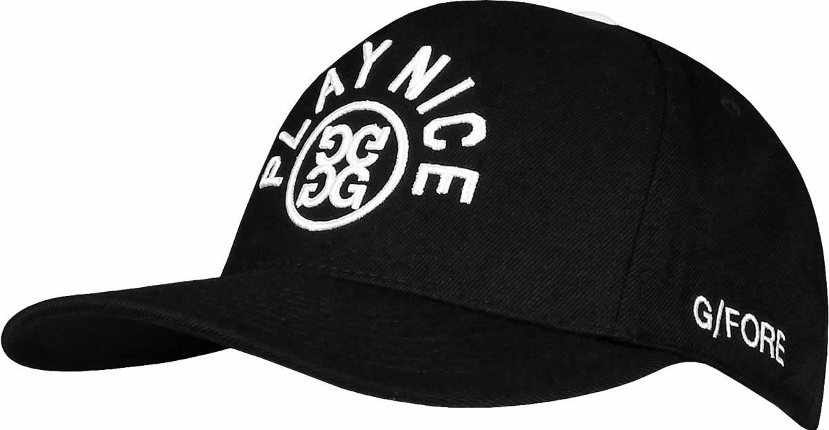 new styles 256b9 cd349 G Fore Play Nice Snapback Adjustable Golf Hats