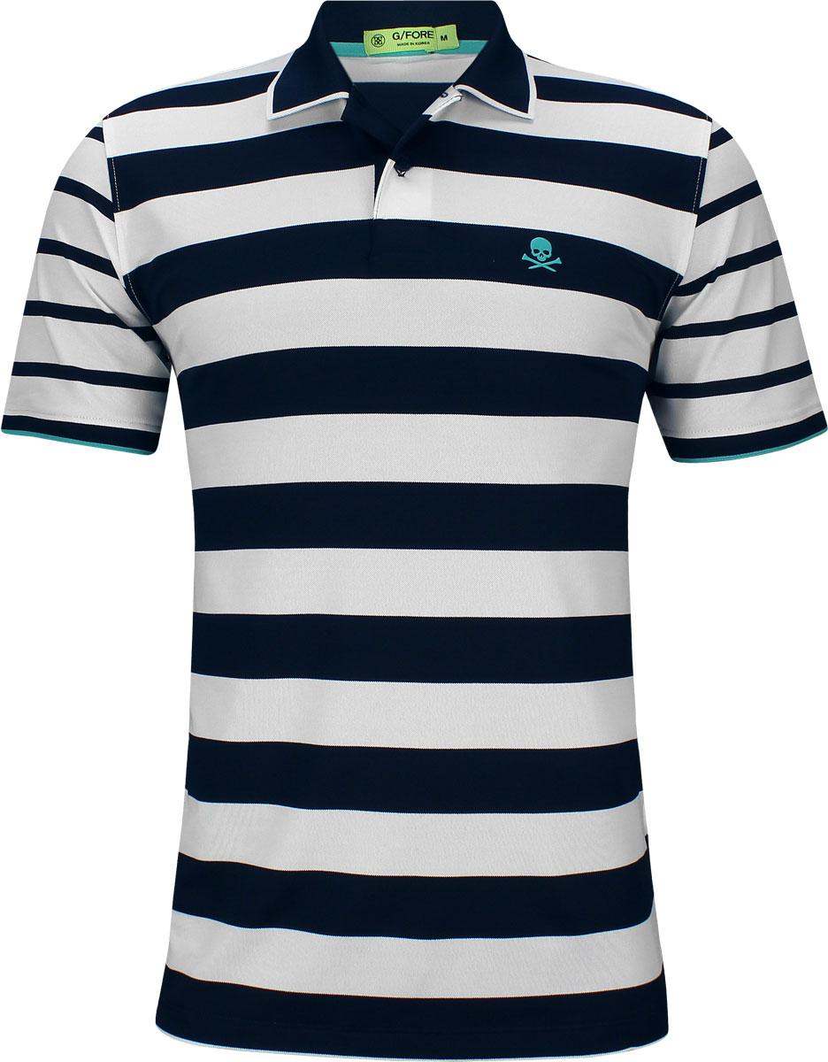 cd6c0759 G/Fore Skull Stripe Golf Shirts - Twilight Blue