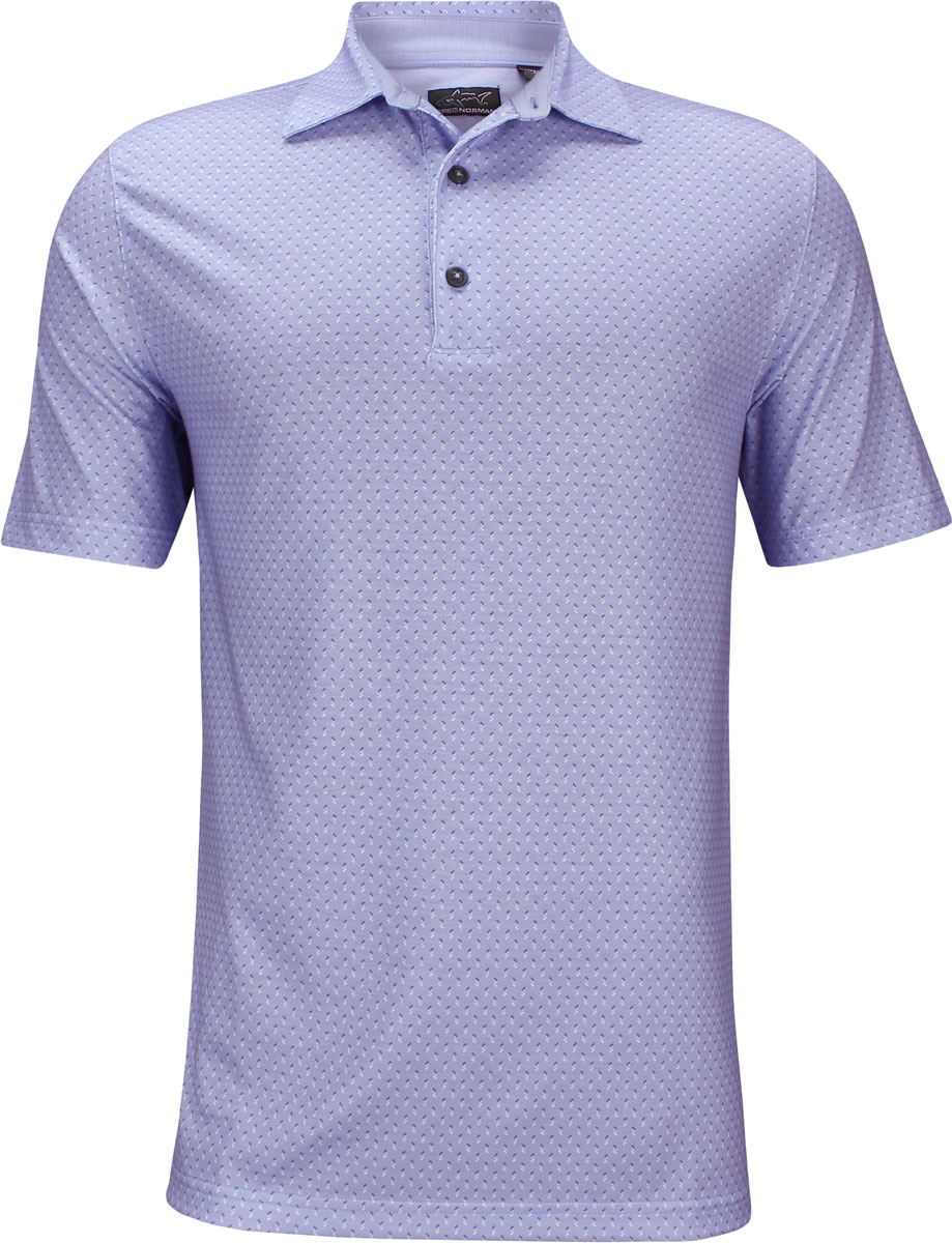 Greg Norman Mens Ml75 Dot Foulard Print Polo