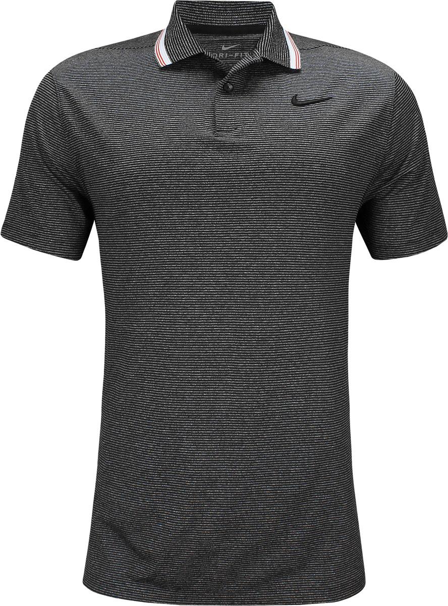 f8d3de2fc2ef8 Nike Dri-FIT Vapor Control Golf Shirts - Black. undefined. undefined.  Enlarge