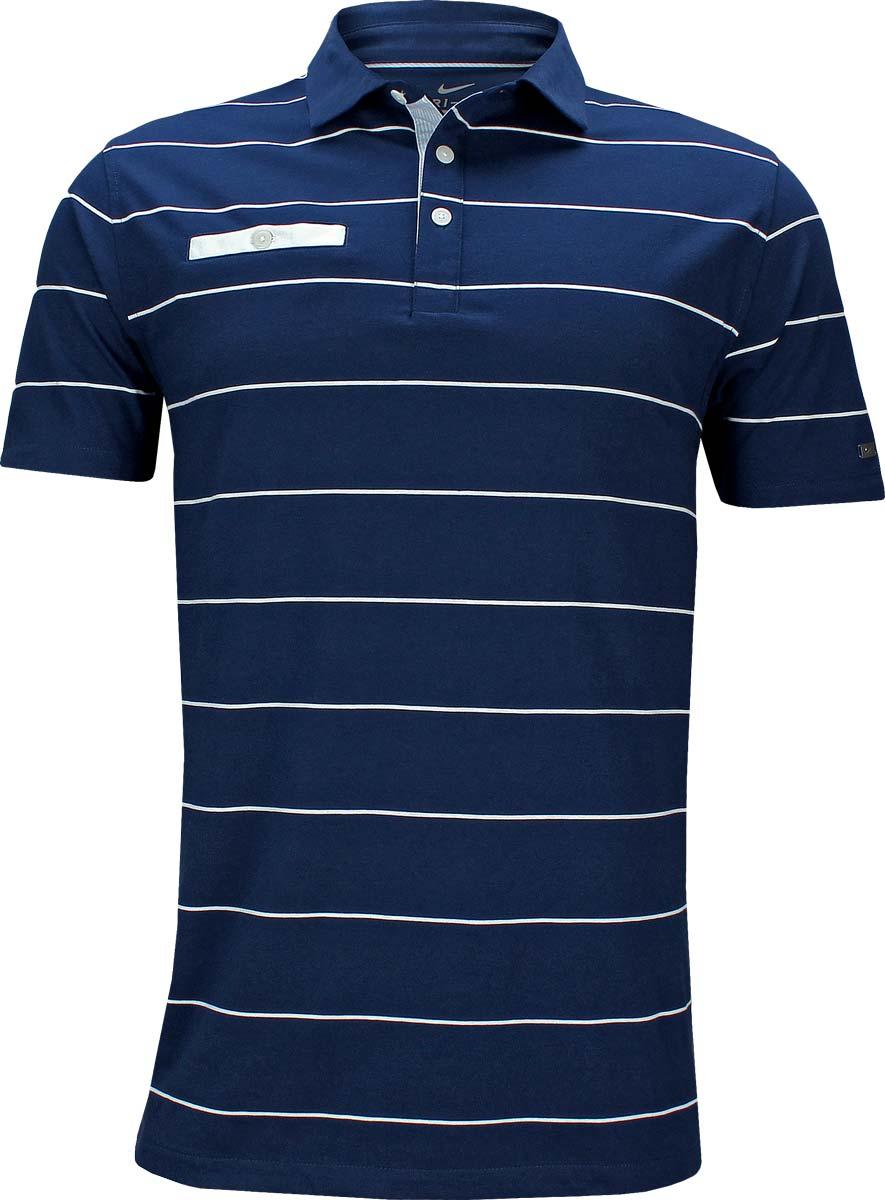 brand new ce5bb 04d18 Nike Dri-FIT Player Stripe Golf Shirts - Blue Void
