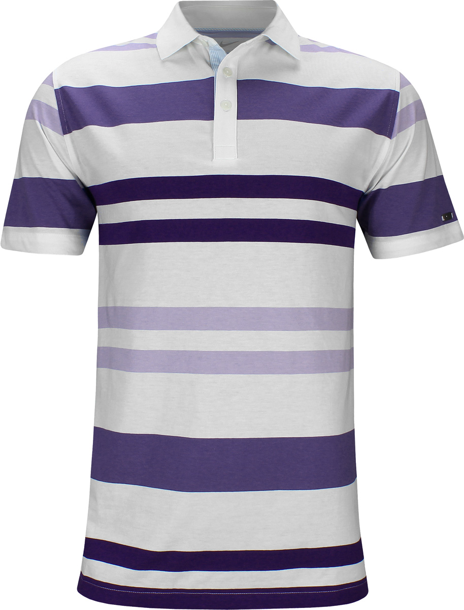 16f28d90a Nike Dri-FIT Player Young Tiger Stripe Golf Shirts - Purple - Rory McIlroy  U.S. Open Thursday