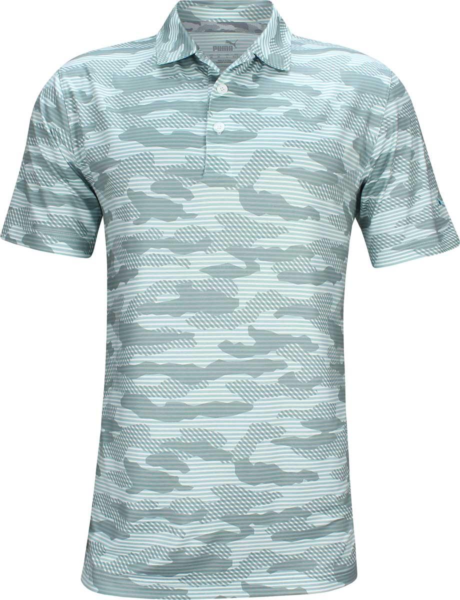 Puma Drycell Cloudspun Camo Golf Shirts